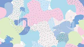 Abstract seamless pattern Blots, dots painted background