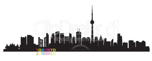 Canada city skyline. Toronto landmarks Travel cityscape view.