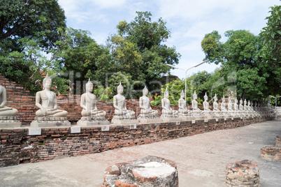 temple complex Watyaichainongkhol in Ayutthaya in thailand