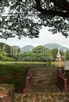 bridge in the historical park in sukhothai