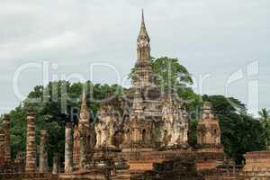 ruins in the historical park in sukhothai