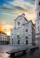Facade of famous basilica