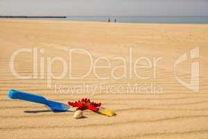 toys on sunny beach
