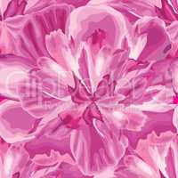 Macro flower bloom seamless pattern. Floral petal background