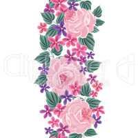 Floral seamless pattern. Flower border background. Floral tile s