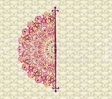 Abstract seamless pattern with circular ornament