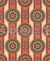 Oriental floral seamless pattern. Geometric ornamental background.