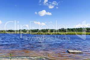 view of the lake with minerals and iodine in the Kherson region,