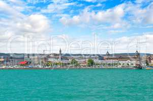 Germany-view on the town Constance from ferry on Lake Constance