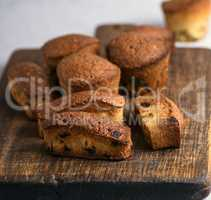small  baked cupcakes with dry fruits