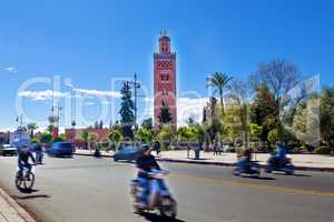 Koutoubia mosque, Marrakesh, Morocco.
