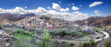 Moroccan village Tisselday. Travel through the desert and Atlas