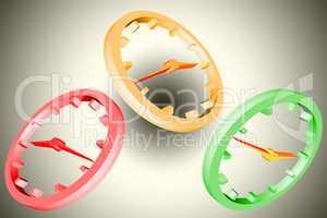 Clock as 3 D symbol