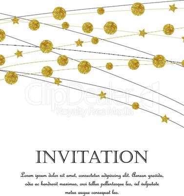 Gold polka dot decoration