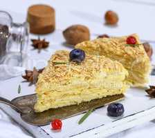 piece of cake Napoleon with cream