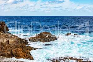 Atlantic Ocean of Lekeitio in Spain