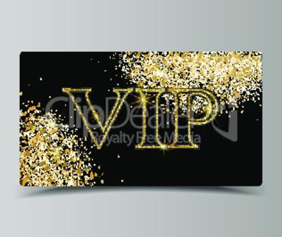 Golden VIP party premium card