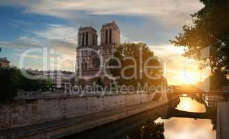 Dawn over Notre Dame