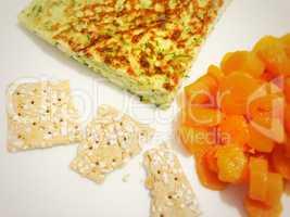 Healthy eating serving omelette
