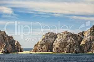 Natural rock formations in Cabo San Lucas, Mexico