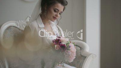 Beautiful bride  in her wedding day