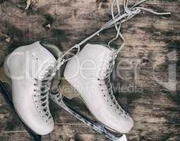 white leather women's skates for figure skating