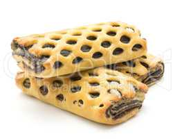 Lattice sweet bread isolated