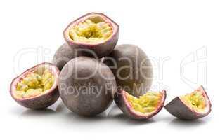Fresh passion fruit isolated on white