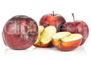 Fresh raw apple red delicious isolated on white