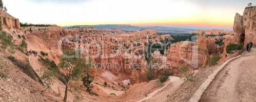 Panoramic view of Bryce Canyon National Park landscape, Utah