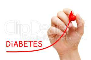 Increase In Diabetes Cases Arrow Concept