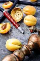 Hookahs shisha with apricot