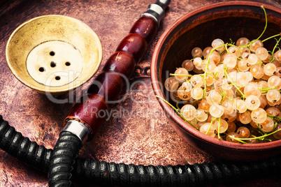 oriental shisha with white currant