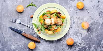 Summer salad with apricot