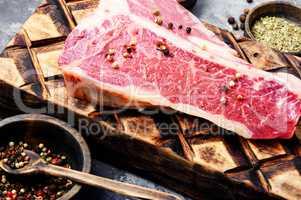 Fresh beef steak