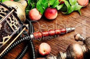 Eastern shisha with peach