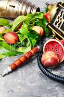 Oriental shisha with peach