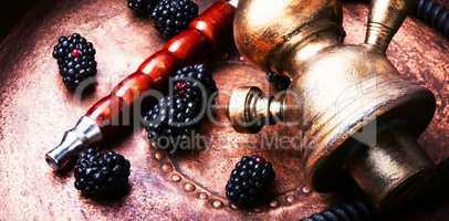 Stylish oriental shisha with blackberry
