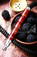 Stylish oriental shisha with blackberry