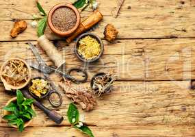 Natural medicine, herbs and plant