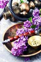 Asian tobacco hookah with floral aroma