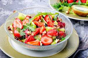 Vitamin salad with strawberry