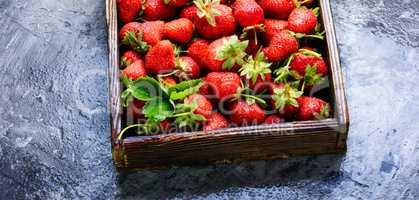 box of strawberries