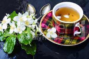 Herbal tea with jasmine