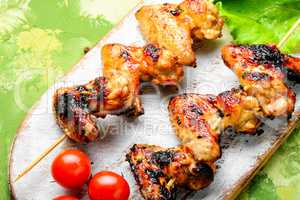 Tasty grilled chicken wings
