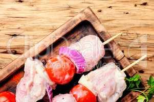 BBQ fresh pork chop slices