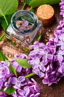 Organic essential aroma oil with lilac