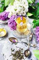 Tea with lilac flavor