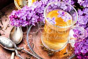 Tea with lilac flavor