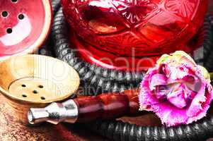 Oriental tobacco hookah with floral aroma